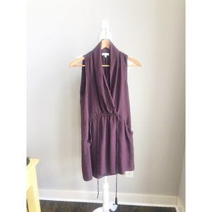 Wilfred Plum Silk Dress Size XS